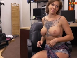 Busty tattooed woman gets nailed by pervert pawn dude picture slut