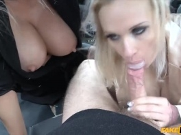 Busty blondes with huge tits filthy taxi threesome picture slut