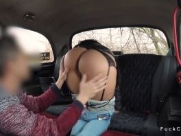 Tanned big ass amateur bangs in fake taxi picture slut