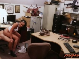 Big breasts latina railed by pawn keeper in his office picture slut