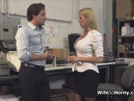 MILF boss visits the new hard cock in warehouse picture slut