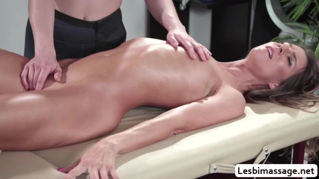 Tara Ashley squirts during a lesbian fuck massage picture slut