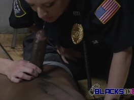 Interrogation room gets some steamy action from milf cops picture slut