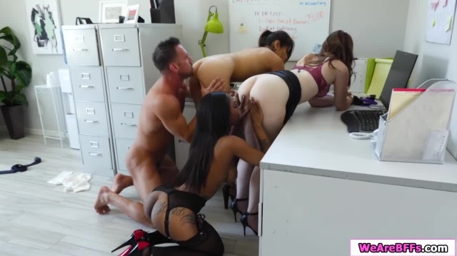 Boss sucked off by and fucks his three personal assistants picture slut