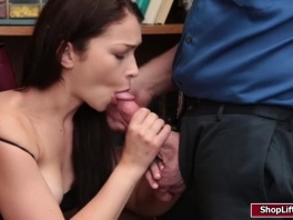 Shoplifter Jennifer Jacobs gets her pussy fucked hard by LP big dick picture slut