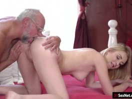 Koko Amaris plays strippoker with old guy and sucks him off picture slut