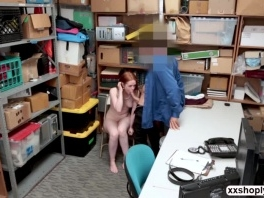 Blonde Shoplifter Ella Hughes gets hammered in the office picture slut