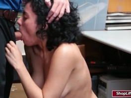 Maya Morena caught stealing then fucked by store officer picture slut