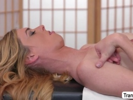 TS Mandy Mitchell bangs her masseuses tight butthole picture slut