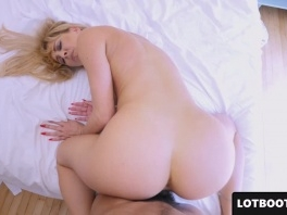 Big ass blonde lewd MILF gets fucked doggystyle in POV picture slut