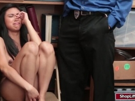 Ember Snow caught stealing and gots her pussy fucked by officer picture slut