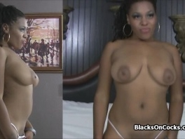 Curvy amateur black drilled at porn audition picture slut