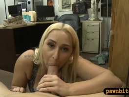 Phat ass amateur blonde woman nailed by pawnshop owner picture slut