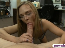 Petite blonde babe boned at the pawnshop picture slut
