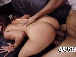 Santa fucks this sweet brunette pretty hard in doggy style picture slut