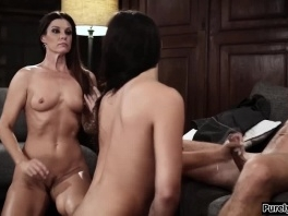 Guy gets to fuck his new stepmom and stepsis to stay silent picture slut