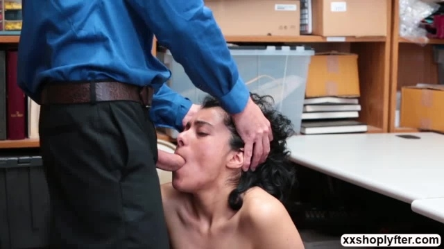 Shoplifter Maya Morena let LP fucks her mouth and pussy picture slut
