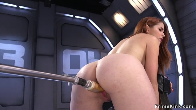 Leaned forward redhead fucked machine picture slut