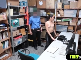 Skinny Korean shoplifter doggystyle fuck rough style picture slut