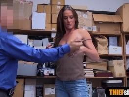 Ffrench MILF thief punish fucked on CCTV by LP officer picture slut