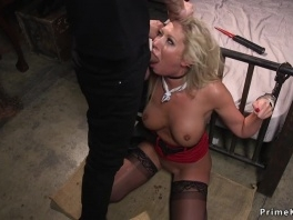 Busty blonde has anal bdsm sex picture slut