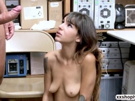 Shoplifter Kitty Carrera gets fuck while getting film picture slut