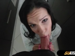 Cute stepsister tried to cook but stepbor was too horny picture slut