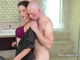 Slippery big tit masseuse plays with hard cock picture slut