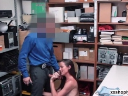 Shoplifter Babe Sofie Marie gives LP Guy awesome blowjob picture slut