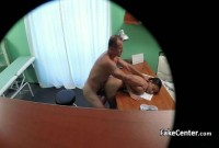 Russian babe fucking the doctor in his office