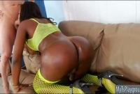 Ebony tranny with big tits gets her juicy asshole slammed picture slut