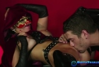 Masked Mistress Fucked in Leather picture slut