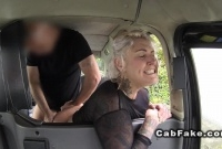 British blonde deep throats and bangs in cab picture slut