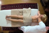 Hot pornstar fucked on massage table