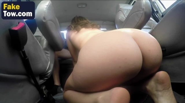 Charming whore dirty tow truck sex with join